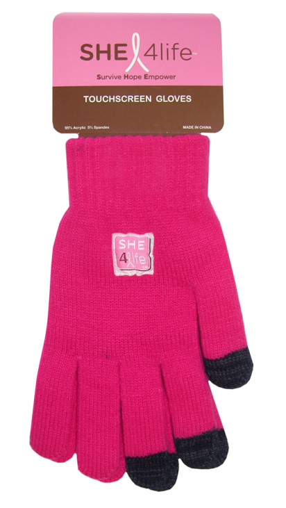 She4Life Boss Tech® Touchscreen Gloves Support Breast Cancer Research
