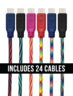 GetPower® 10ft. Cables – Pack of 24 – Micro USB
